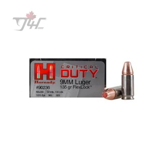 Hornady Critical Duty 9mm Luger 135gr. FlexLock 25rds