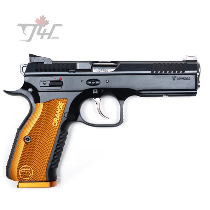 "CZ Shadow 2 Orange 9mm 4.9"" BRL Black/Orange"