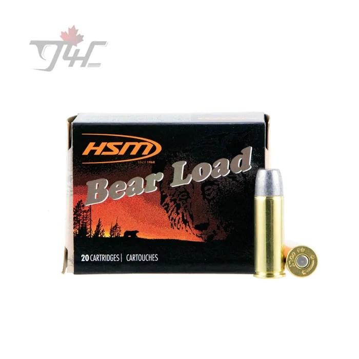 HSM Bear Load .45Colt +P 325gr. Lead WFN Gas Check 20rds
