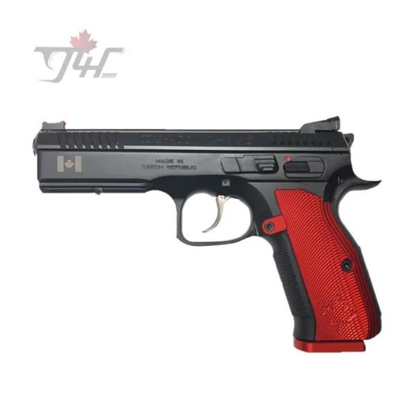 """CZ 75 Shadow 2 Canada Edition 9mm 5"""" BRL Red/Black"""