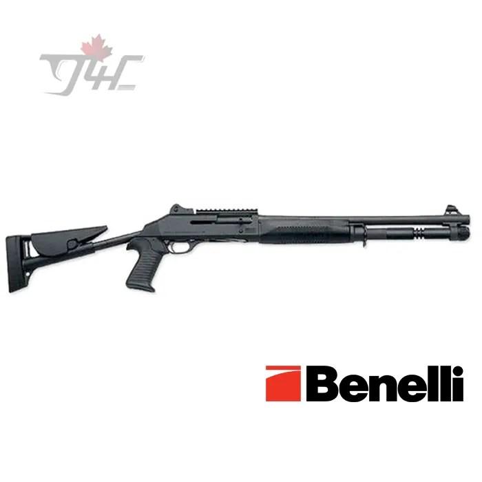 "Benelli M4 Tactical Telescoping Stock 12Gauge 18.5"" Black Synthetic"