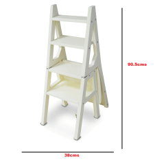 Folding Chair Ladder Padded Church Chairs G4rce Innovative Clever Fold Up Library Steps Step