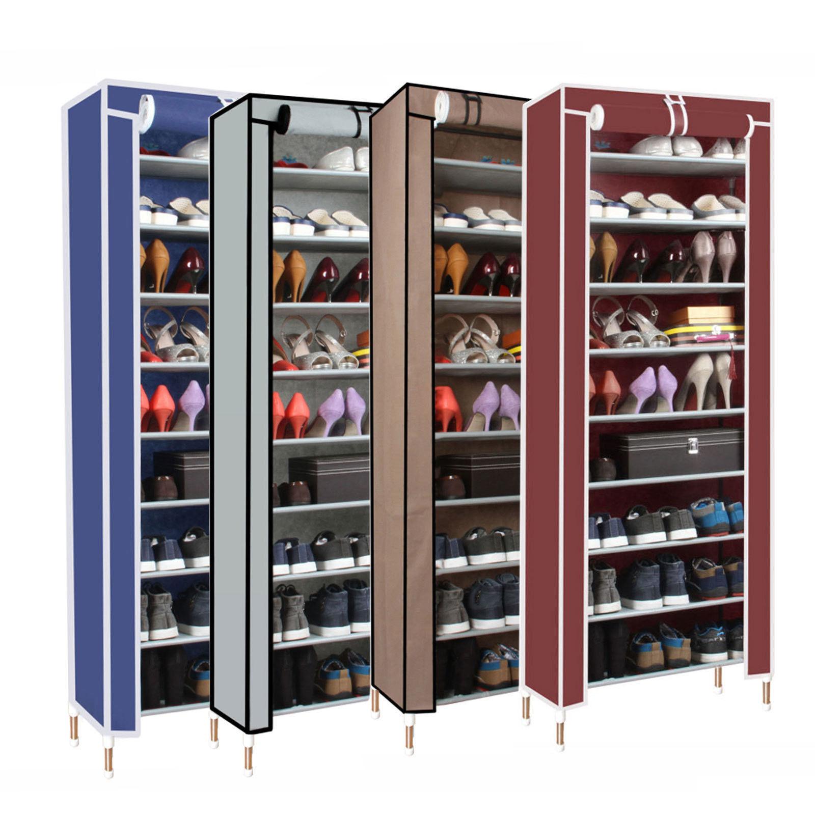 Dust proof 10 Tier Shoes Cabinet Storage Organizer Shoe
