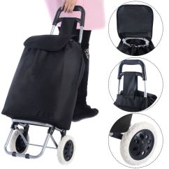 Folding Chair With Wheels Steel On Gem Travel Shopping Trolley Bag Grocery Rolling Wheel Cart
