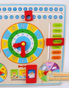 Intelligent early learning education wooden calendar toy clock chart babies uk also educational date weather kids clever rh ebay