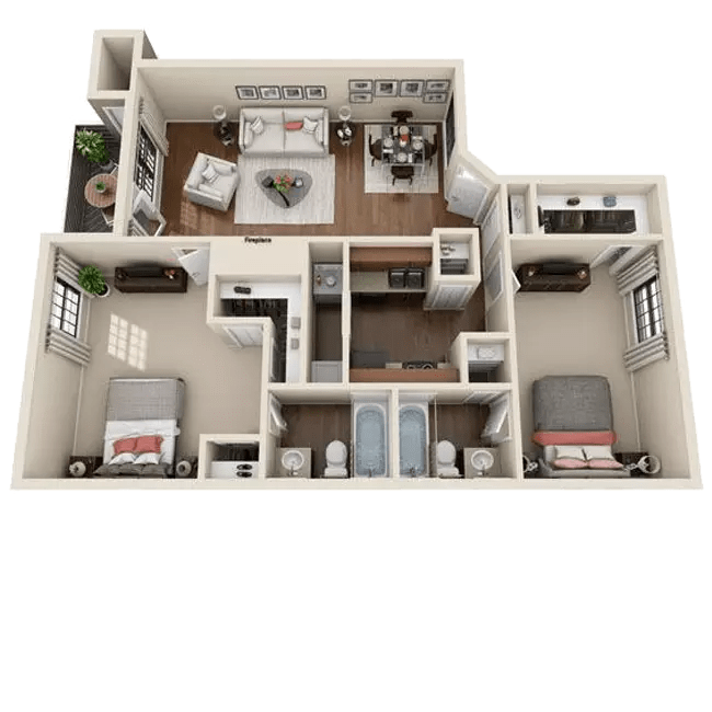1 & 2 Bedroom Apartments for Rent near Fort Carson in