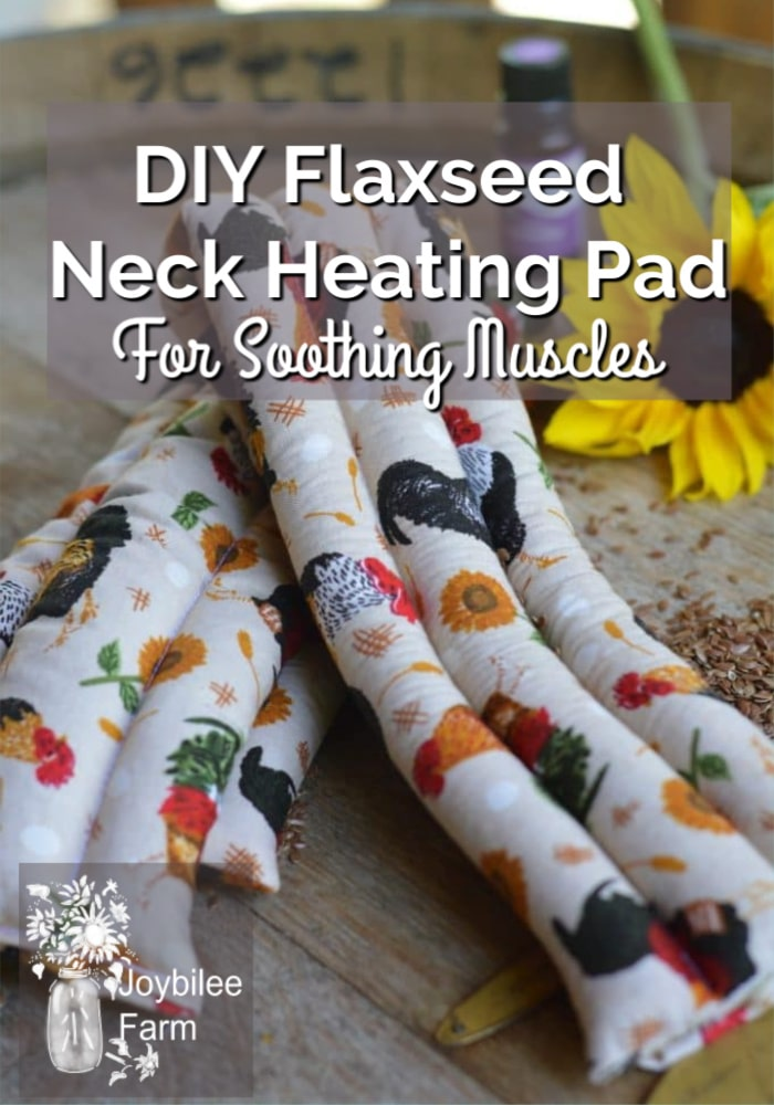 diy flaxseed neck heating pad for