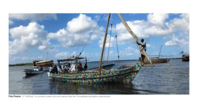 Photo of Barco feito com resíduos plásticos vai navegar pela costa africana