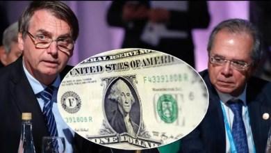 """Foto de Bolsonaro e Guedes """"torram"""" US$ 20 bi das reservas internacionais"""