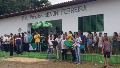 Foto de Prefeito Anderson Wilker inaugura escola em Japeú