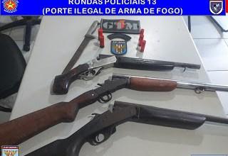 Foto de Bandidos são presos com arma em São José de Ribamar-MA