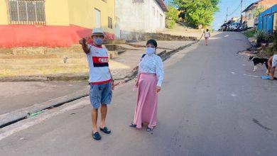 Foto de Fátima Araújo visita bairro São Cristóvão acompanhada de lideranças