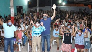 Foto de Fátima Araújo e Rubens Jr participam de reunião na Vila Conceição/João de Deus