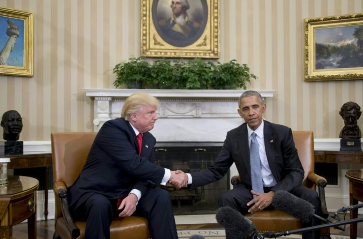 Image result for obama and trump meeting