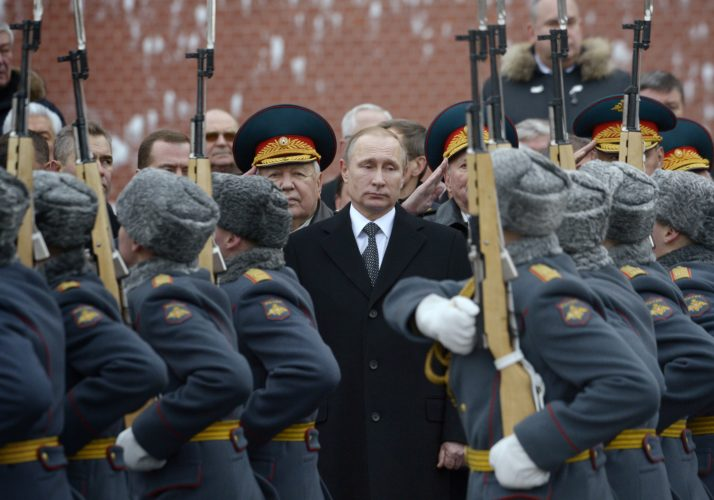Russian President Vladimir Putin at the Tomb of the Unknown Soldier in Moscow | Natalia Kolesnikova/AFP via Getty Images