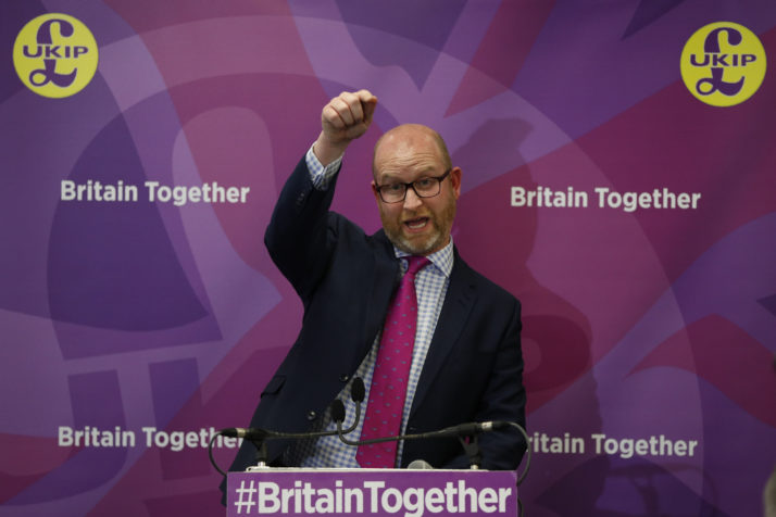 UKIP collapsed. In recent elections, the anti-EU party was a recipient of the so-called protest vote, and a lightning rod in 2015 for voters concerned about immigration and the influence of Brussels | Adrian Dennis/AFP Via Getty Images
