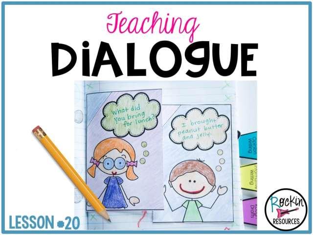 Writing Mini Lesson #18- Dialogue in a Narrative Essay - Rockin