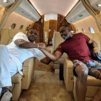 Nigerian Billionaire 'AK47' Chills With A Senator In His Luxury Private Jet (Pics)