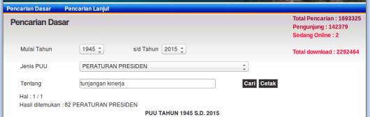 Pencarian keyword Tunjangan Kinerja 1945 - 2015 sipuu dot setkab dot go dot id