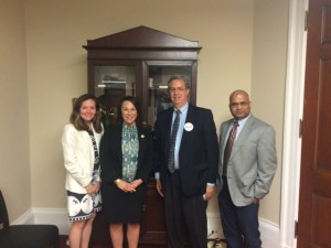 Carolyn Mullen, Rep. Martha Roby (R-Ala.), Dr. David Chaplin from UAB and Dr. Manoj Mishra from Alabama State University