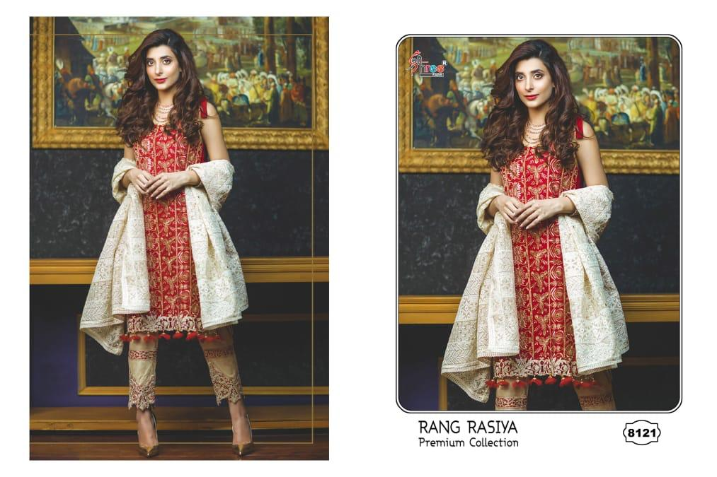 SHREE FABS 8121 RED DESIGN