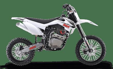 SR150 white dirt bike