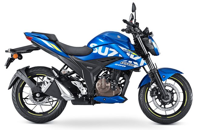 gixxer 250 bs6 blue