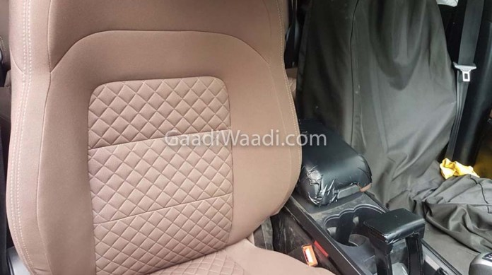 tata harrier interior seat upholstery images