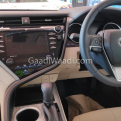 All New Camry 2019 Interior Kijang Innova 2.4 A/t Diesel Exclusive Toyota Spied Undisguised In India Hybrid Pics 4