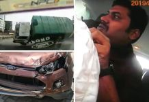 Horrifying Crash Of Ford Ecosport With Truck, Driver Walks Away Unhurt