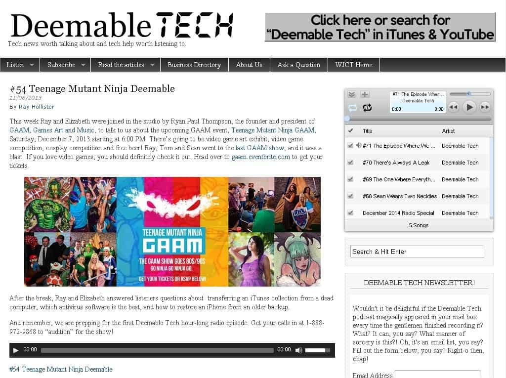 Featured on #54 Teenage Mutant Ninja Deemable – Deemable Tech
