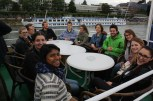 Our student assistants enjoy the cruise on the Rhine