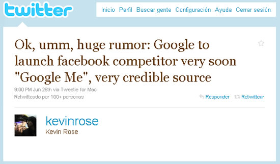Google Me Tweet