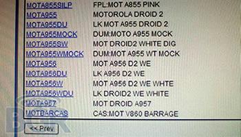 Motorola Droid Pro y Droid 2 World Edition