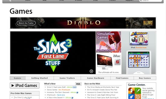 Apple Games Pagina Web