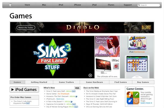 Apple Games Pagina Web