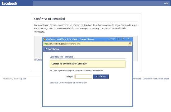 Facebook Verficacion