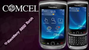 BlackBerry Torch en Colombia Comcel