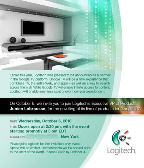 Google TV Logitech 2010