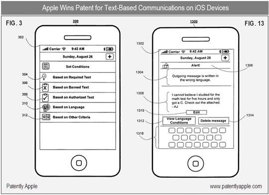 Patente de control de mensajes Apple