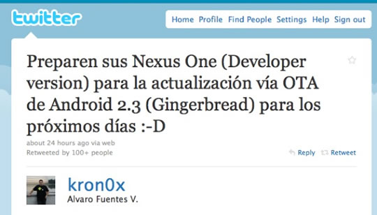 Android Gingerbread llega al Google Nexus One