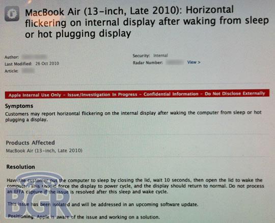Problemas pantalla MacBook Air