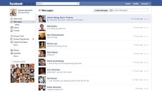 Servicio de e-mail o mensajeria Facebook