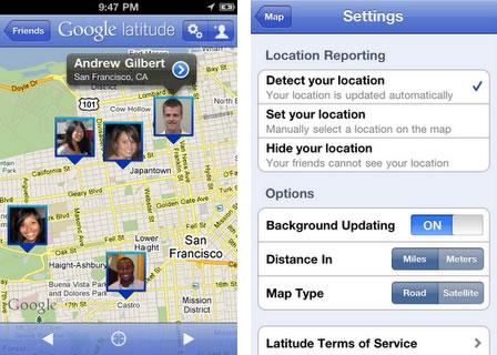 Google Latitude para iPhone