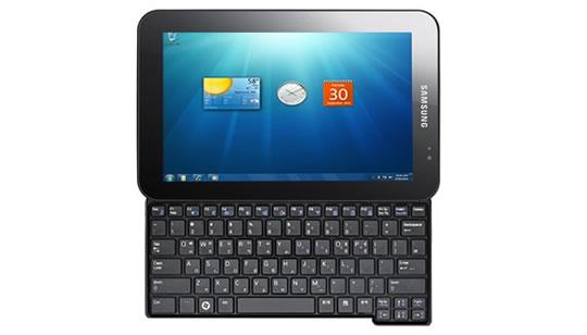 Samsung Tablet con teclado deslisable Windows 7