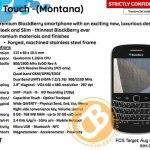 BlackBerry Blod Touch - Montana