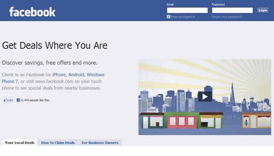 Facebook Deals web