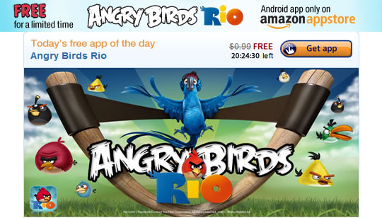 Amazon Appstore para Android - Angry Birds Rio gratis