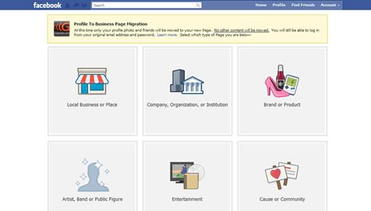 Conversión Facebook- Perfil a Página