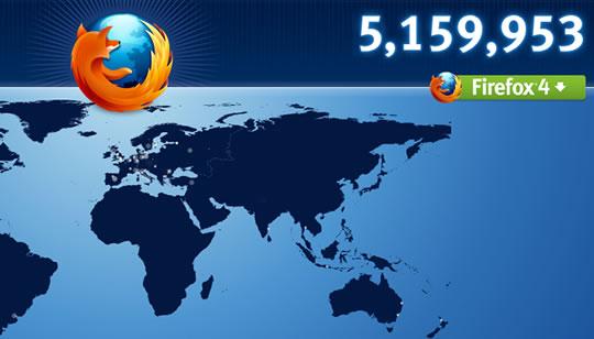 Firefox 4 logra 5 milloens en primeras 24 horas